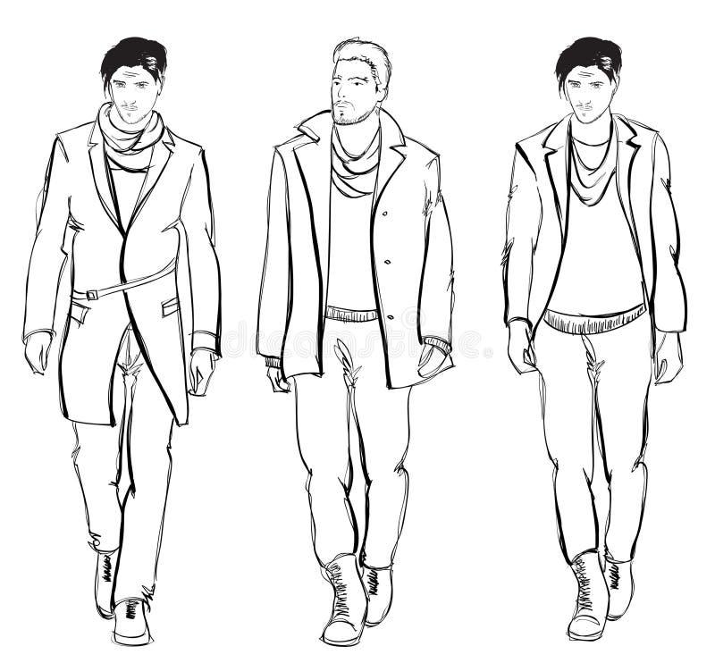 Modemänner lizenzfreie abbildung