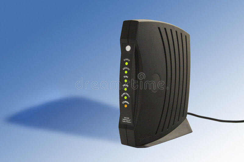 Modem câblé image stock