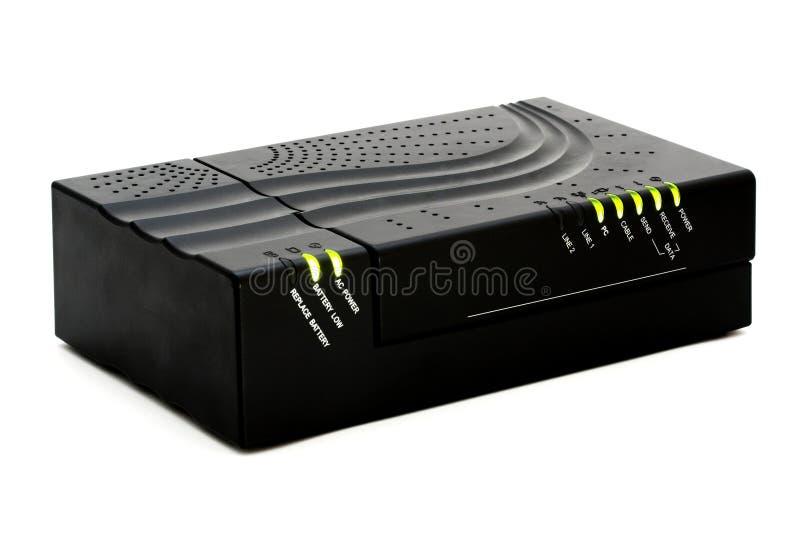 modem cable fotografia stock