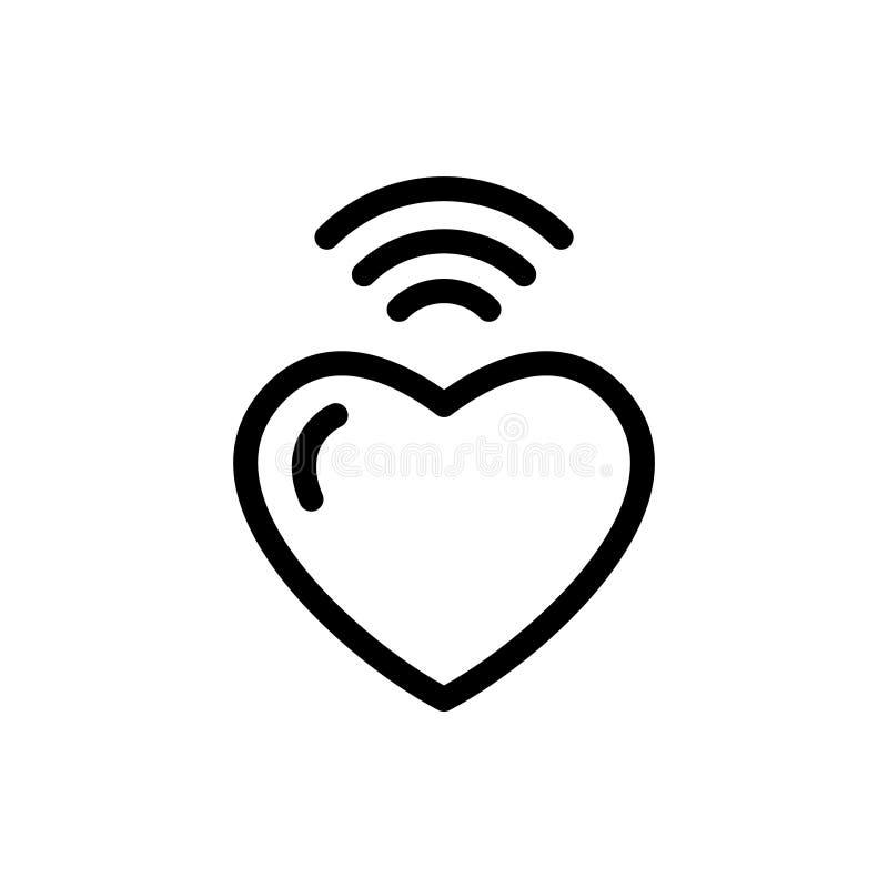 Modem do sinal do amor ilustração do vetor
