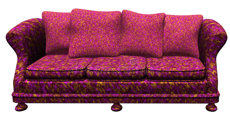 Modem Furniture - Sofa. Sofa - computer generated 3d image stock illustration