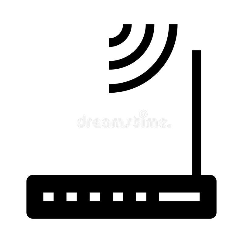 Modem glyphs icon. Modem Vector glyphs Icon. Elements for mobile concept and web apps. Thin line icons for website design and development, app development vector illustration