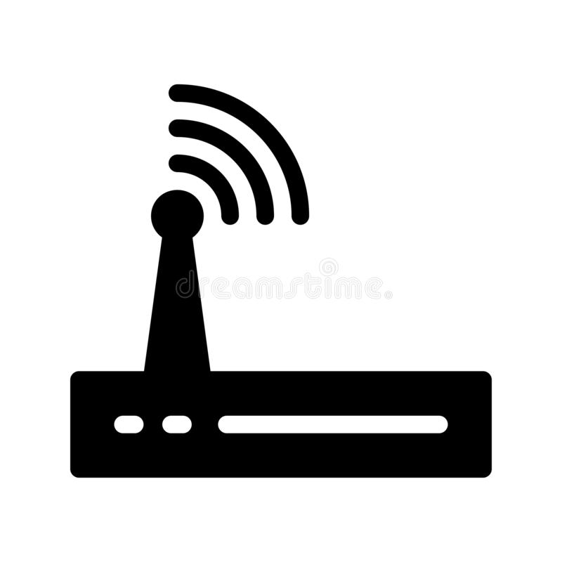 Modem vector glyphs icon. Elements for mobile concept and web apps. Thin line icons for website design and development, app development. Premium pack royalty free illustration