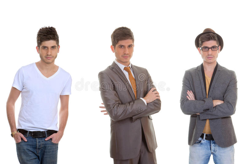 Modeman, olika mäns stilar arkivfoto