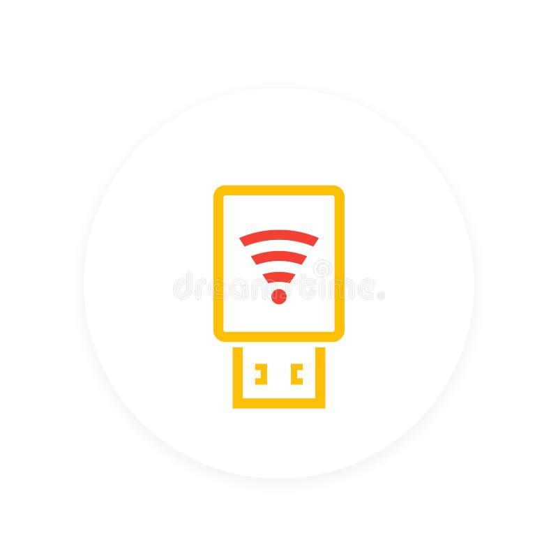 Modemikone Usb Wi-Fi lizenzfreie abbildung