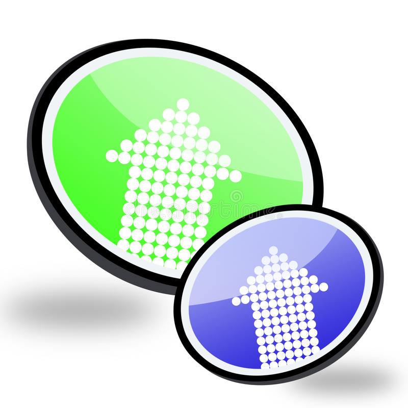 Modempfeil-Zeichentasten stock abbildung