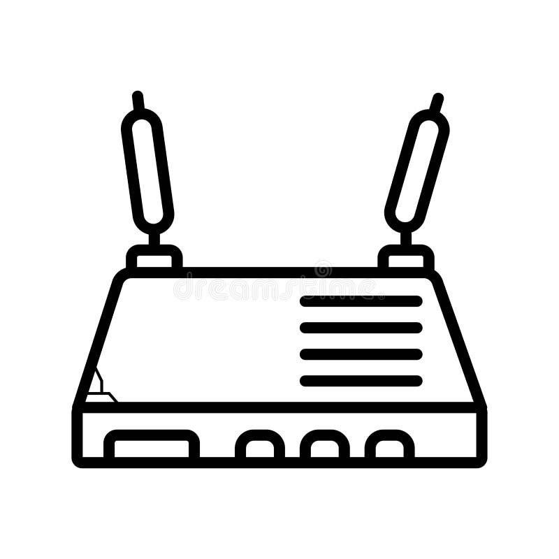 Modempictogram Element van computerdeel voor mobiel concept en Web vector illustratie