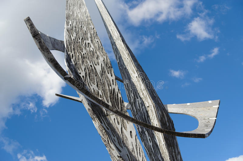 Moden sculpture. In Berlin, Germany royalty free stock photography