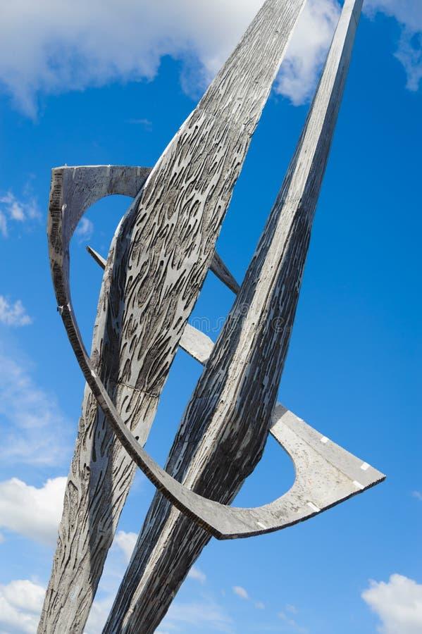 Moden sculpture. In Berlin, Germany stock photo