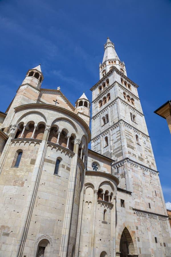 Modena - Il Duomo Cattedrale Metropolitana di Santa Maria Assunta e San Geminiano fotografia stock libera da diritti