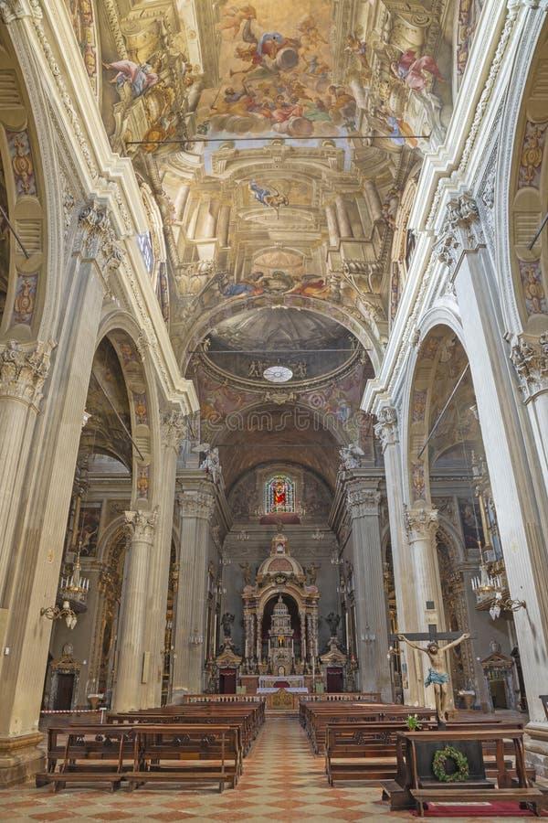 MODENA, ITALIA - 14 APRILE 2018: Chiesa di San Bartolomeo fotografia stock libera da diritti