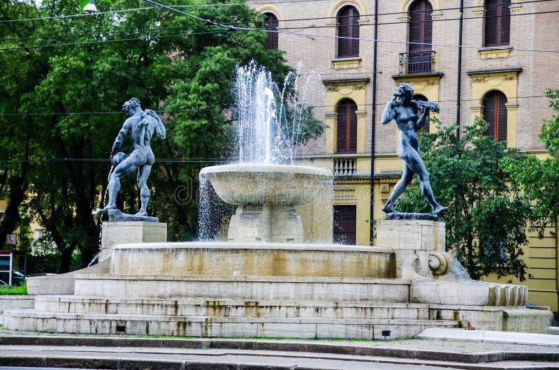 Modena , Italy. Fountain in The historic city of Modena, Italy royalty free stock images