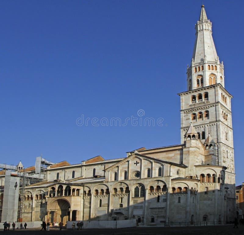 Modena-Kathedrale eingeweiht der Annahme von Jungfrau Maria lizenzfreies stockfoto