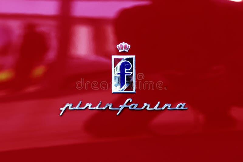 Modena, Pininfarina logo, Motor Valley Fest. MODENA, ITALY, May 2019 - Motor Valley Fest exhibition, City of Modena stock images