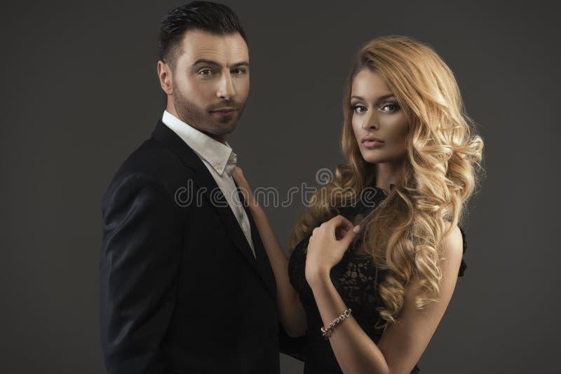 Modeporträt von Paaren stockfotos
