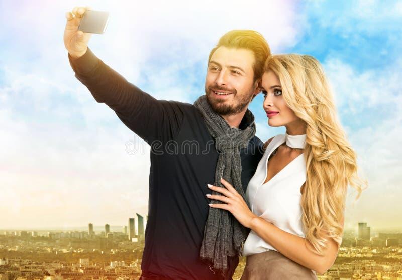 Modeporträt von Paaren stockfoto