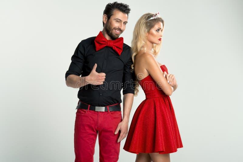 Modeporträt von Paaren stockbilder