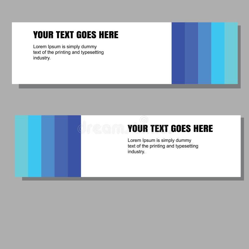 Moder abstrait de bannière avec le bleu de couleur de gradation illustration libre de droits