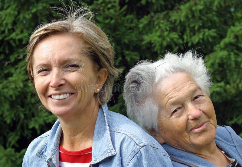 moder för 7 dotter royaltyfria foton