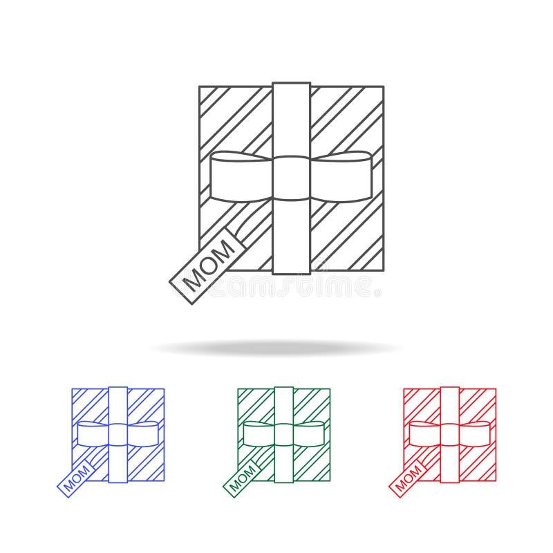 moder- \ 'för s-daggåva symbol Beståndsdelar av morsa dagen i mång- kulöra symboler Högvärdig kvalitets- symbol för grafisk desig stock illustrationer