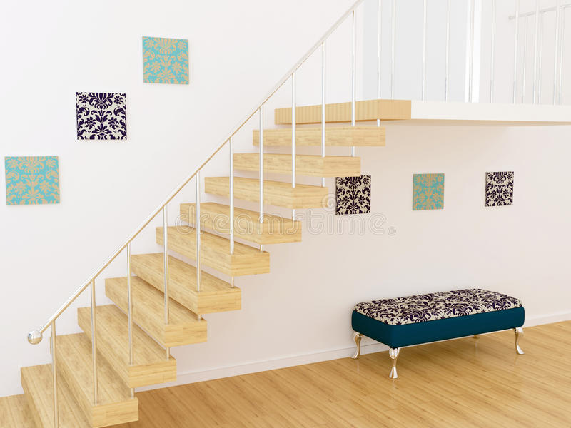 Moder interior design royalty free illustration
