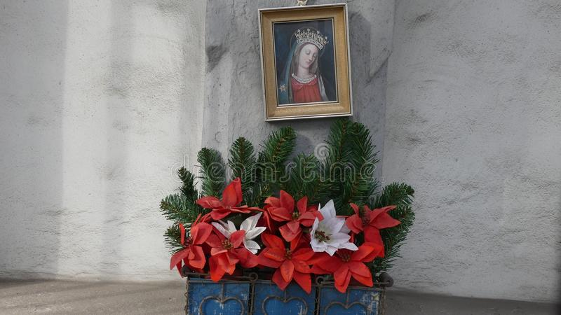 Moder Mary Close Vienna, Österrike arkivfoto