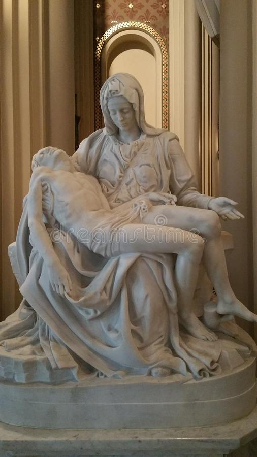 Moder Mary med Kristus royaltyfri foto