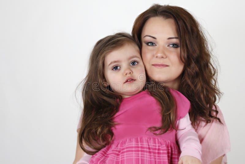 Moder med dottern royaltyfria bilder