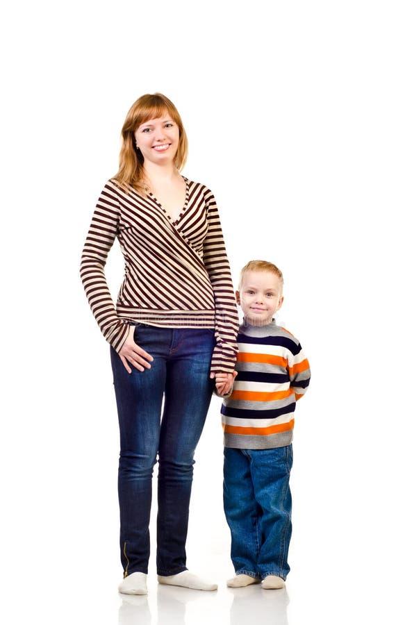Moder och barn arkivbild