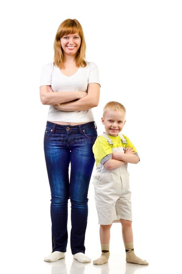 Moder och barn arkivfoton