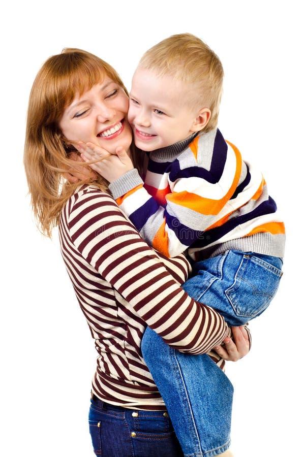 Moder och barn fotografering för bildbyråer