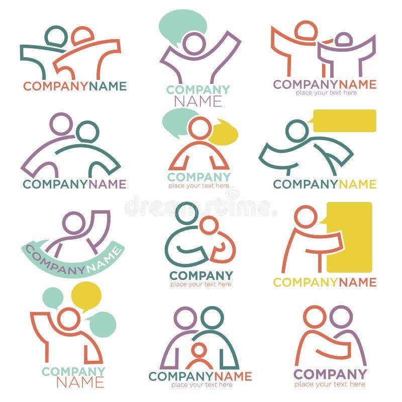 Moder- och barnavårdvektorsymboler för föräldra- föräldralös organisation stock illustrationer