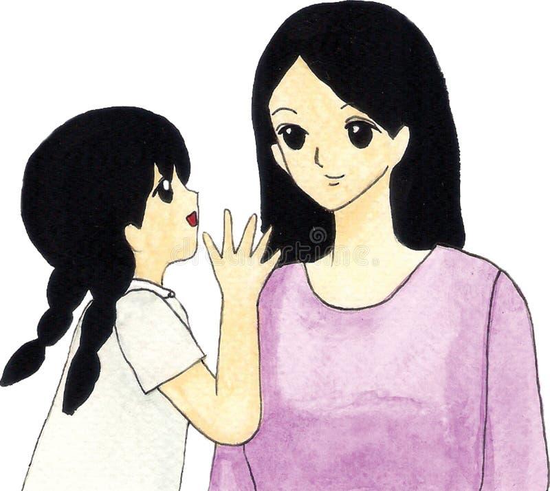 Moder och dotter stock illustrationer