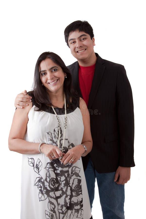 Moder och son för östlig indier fotografering för bildbyråer