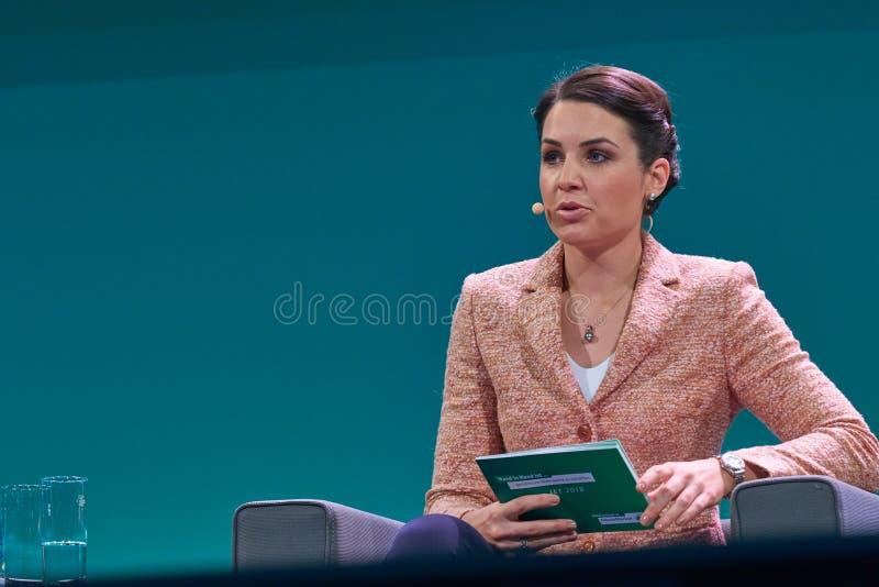 Julia Bauer - German Moderator royalty free stock images