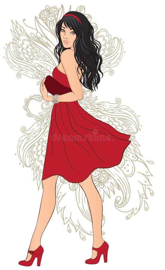 moderedkvinna royaltyfri illustrationer