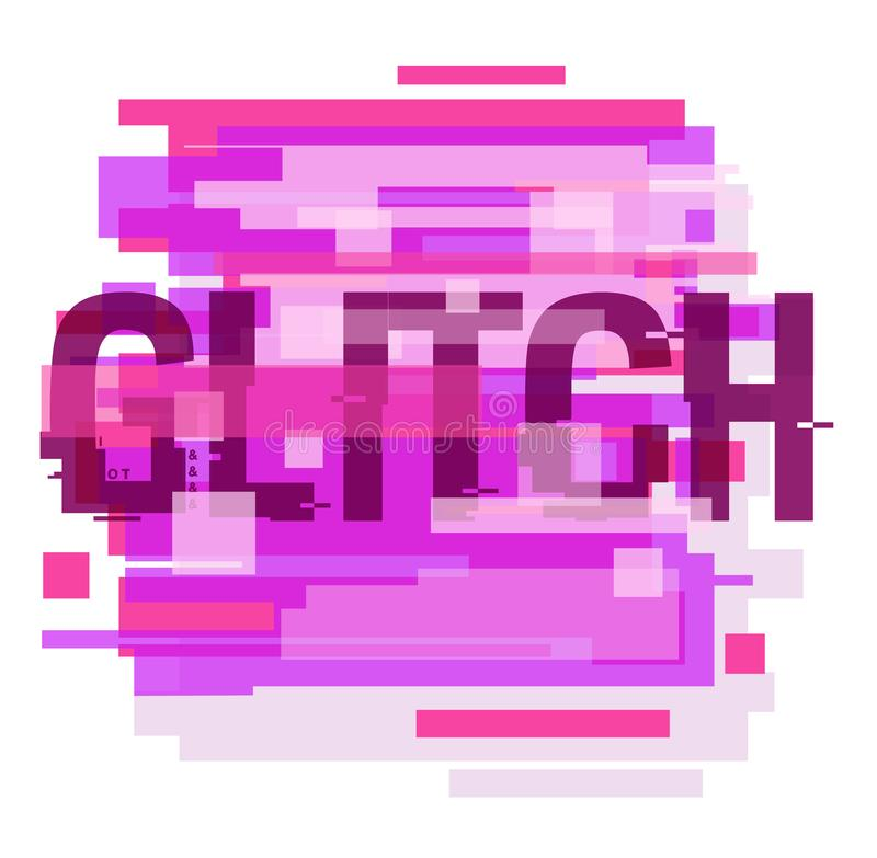 Minimalistic abstract design, creative concept in distorted glitch style stock photography