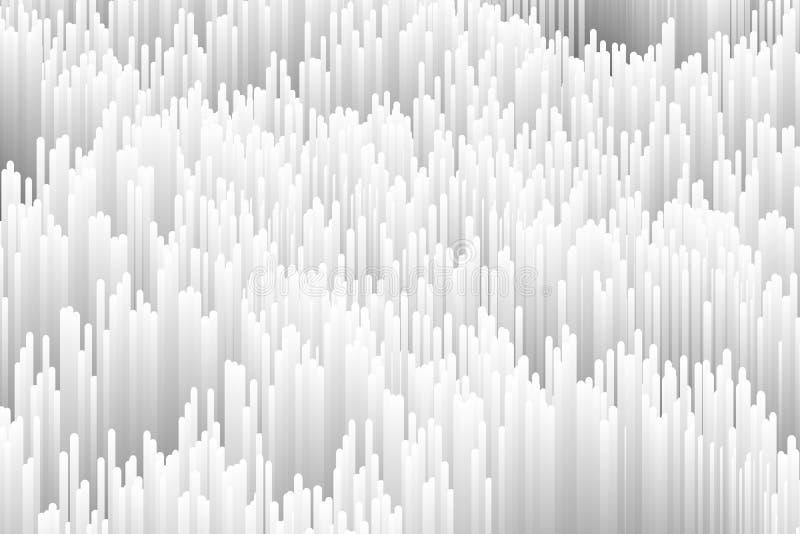 Moderiktig generativ monokrom illustration Datadistorsionsbakgrund vektor illustrationer