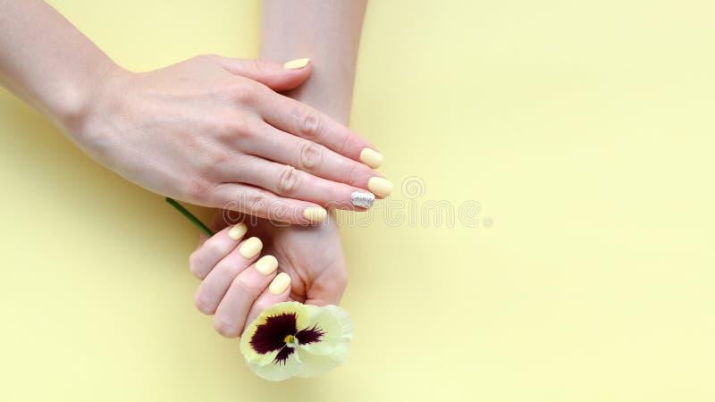 Moderiktig kvinnlig manikyr royaltyfria bilder