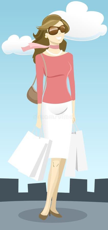 moderiktig lady stock illustrationer