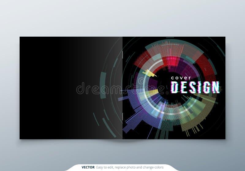 Moderiktig mall för tekniskt felräkningsdesign för fyrkantig broschyr Modern tekniskt felvektorillustration stock illustrationer