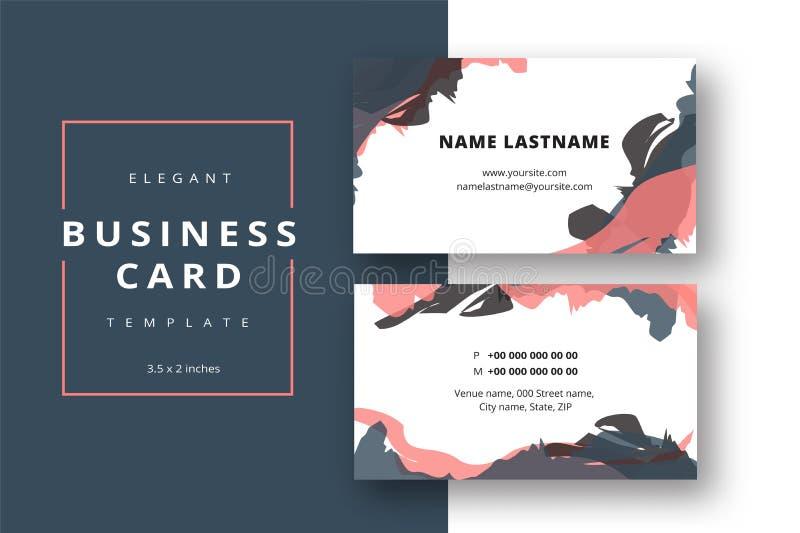 Moderiktig minsta abstrakt mall för affärskort företags modernt vektor illustrationer