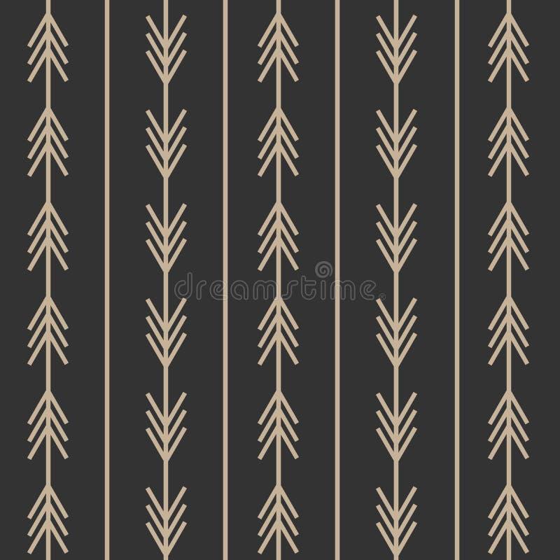 Moderiktig pilmodell för orientering och bakgrund Svartvita pilar med modern scandinavian stil Planlagt för rengöringsduk och try vektor illustrationer