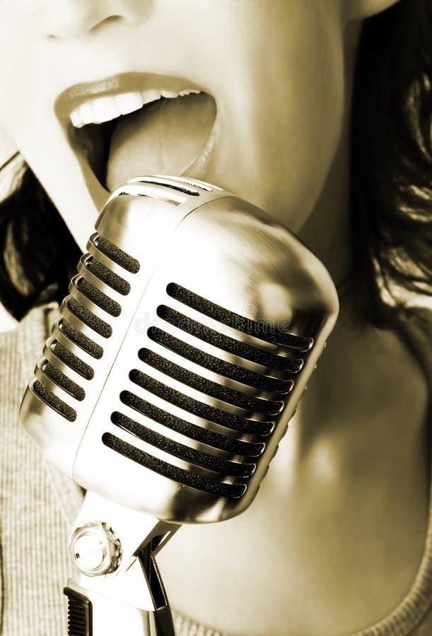 moderiktig sångare royaltyfri fotografi