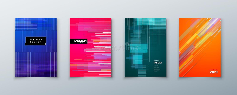 Moderiktig tekniskt felräkningsdesign med den geometriska modellen modern vektor för illustration stock illustrationer