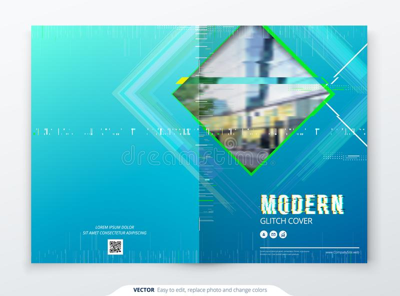 Moderiktig tekniskt felräkningsdesign med den geometriska modellen modern vektor för illustration royaltyfri illustrationer