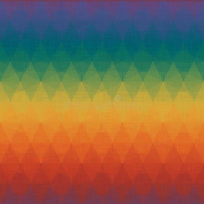 Moderiktiga färger för färgrik för romb mosaisk modell för Grunge sömlös vektor illustrationer