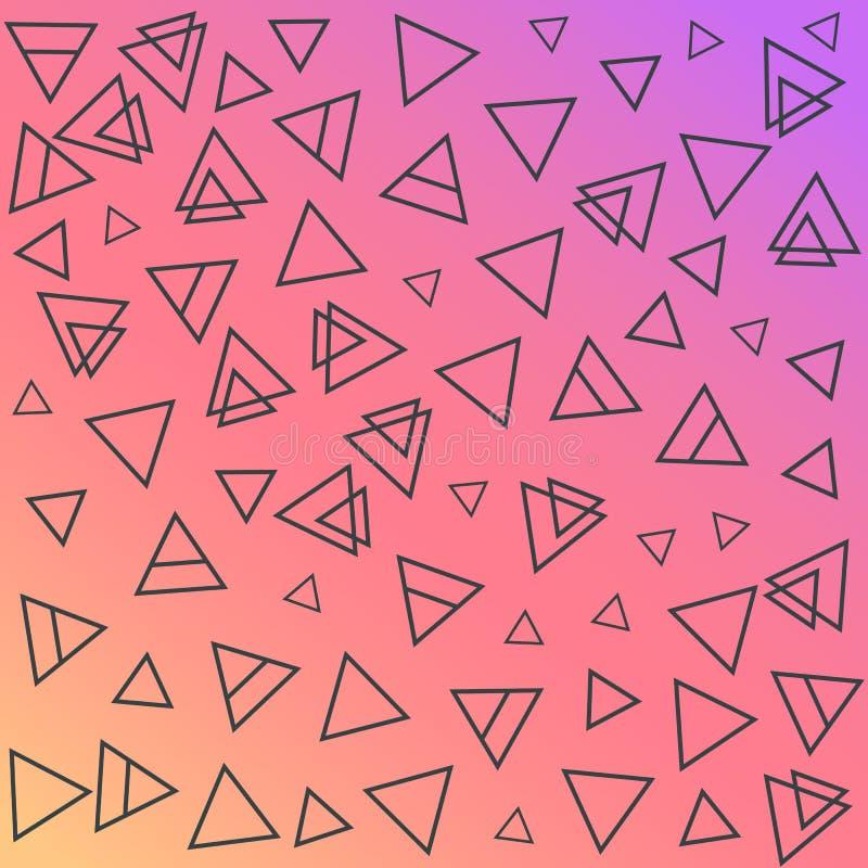 Moderiktiga geometriska beståndsdelmemphis kort Retro stiltextur, modell och geometriska beståndsdelar modern abstrakt design arkivbild