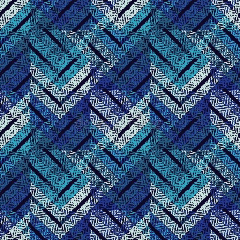 Moderiktiga sömlösa modelldesigner Formerna av sicksackar mönstrade textur Geometrisk bakgrund för vektor arkivfoto
