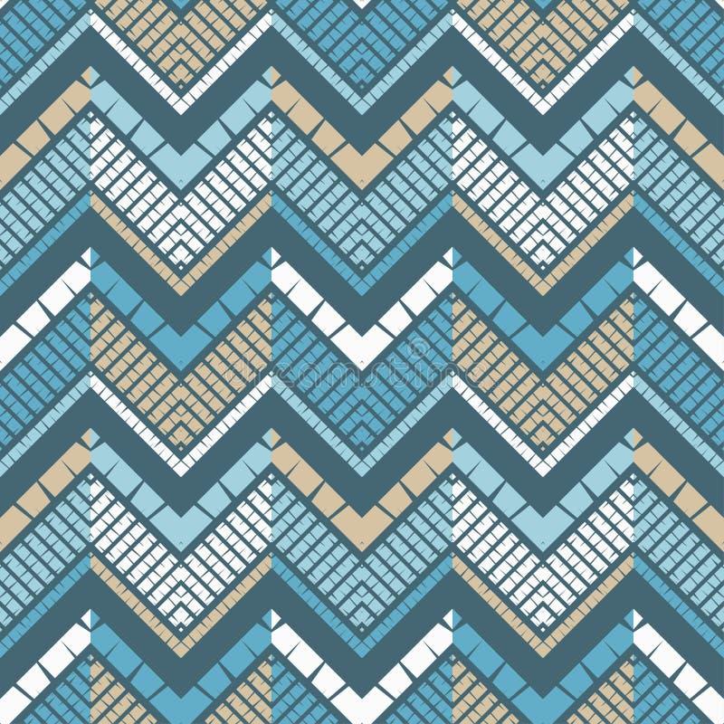 Moderiktiga s?ml?sa modelldesigner Mosaik av sicksacken med den gamla texturen Geometrisk bakgrund f?r vektor royaltyfri illustrationer